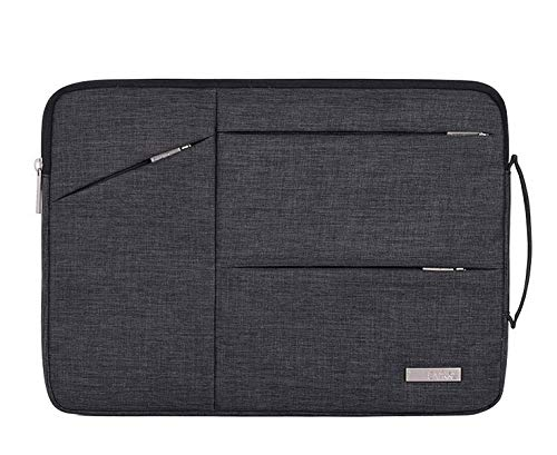 HzYisida TM Canvas Laptop Sleeve, Extra Pocket Carrying Case for ASUS ZenBook 13 Ultra-Slim/Lenovo Yoga 730 2-in-1 13.3' / Microsoft Surface Pro X/Surface Pro 7 12.3 / HP Elite x2 G4 13/12.3 (Black)
