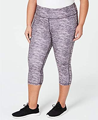 Ideology Women's Plus Size 2X Space-Dyed Cropped Leggings