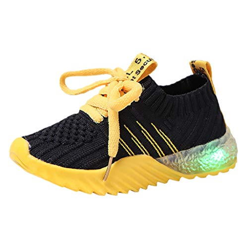 BURFLY Mode Kinder Schuhe, Kind Baby Mädchen Jungen Süßigkeit Farbe führte leuchtende Sportschuh Lauf Turnschuh Sneakers Freizeitschuh