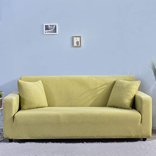 Funda Elástica para Sofá 2 plazas y 4 plazas Protector de sofá Grueso Fundas de sofá sólidas para Sala de Estar, Funda de sofá Impermeable Funda de Esquina para Mascotas 145-185cm y 235-300cm2 PCS