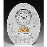 Shudehill Giftware per ° Anniversario di Matrimonio Specchio Mantel Clock