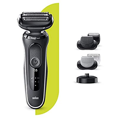 Braun Series 5 Electric Shaver for Men with Charging Stand, Beard Trimmer, Body Groomer, Wet & Dry, Rechargeable, Cordless Foil Razor, White, 50-W4650cs by Procter & Gamble