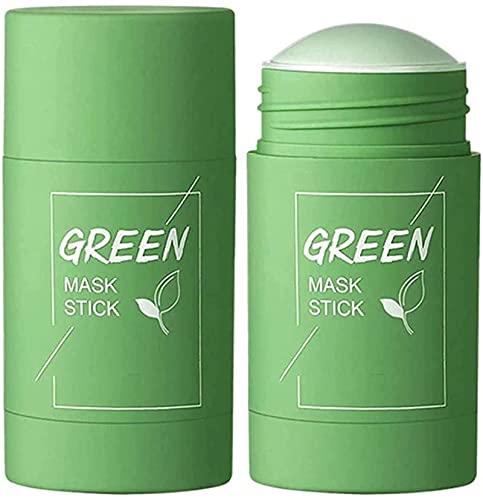 Green Tea Mask Stick,Green Tea Purifying Clay Stick Mask,Face Moisturizes Oil Control,Deep...
