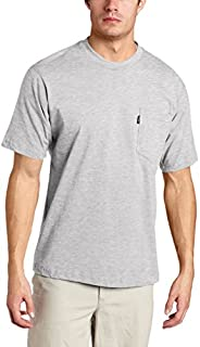 Key Apparel Men's Big & Tall Short Sleeve Heavyweight Pocket Tee Shirt