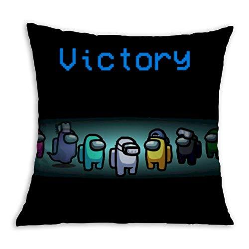 Victory - Fundas de cojín con impresión 3D, funda de almohada decorativa para el hogar, para sala de estar, dormitorio, sofá, silla, 45,7 x 45,7 cm