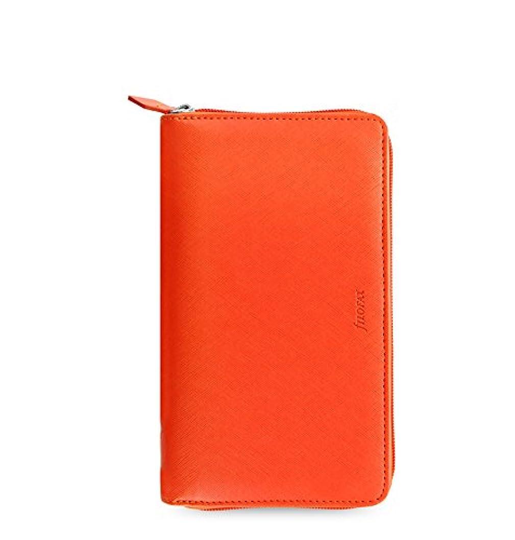 状準備した僕のファイロファックス サフィアーノ ジップ Saffiano バイブルサイズ ブライトオレンジ Orange filofax システム手帳 022535