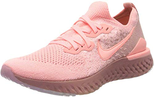 Nike Women's Epic React Flyknit 2 Running Shoe, Pink Tint/Pink Tint-Rust Pink, 6 UK