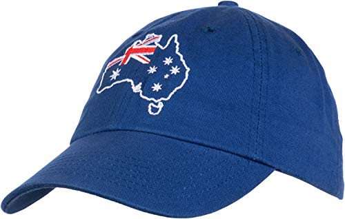 Australia Pride | Australian Aussie Flag Sport Fan Low Fit Baseball Cap Dad Hat Royal Blue