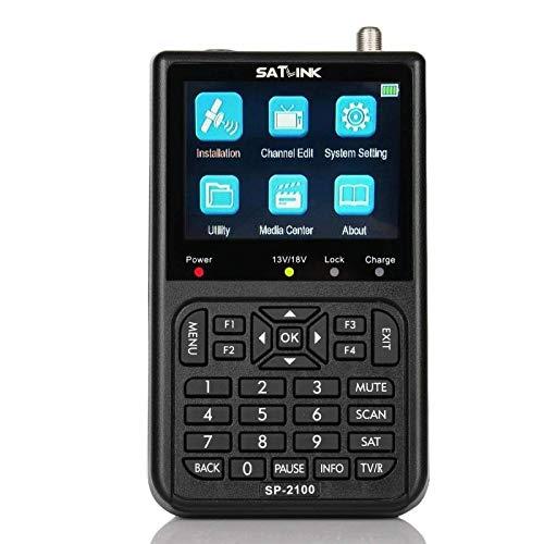Satlink SP-2100 - Medidor de campo satélite DVB-S2 HD MPEG2 MPEG4 USB Puntero...