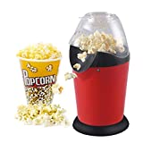 Aashirvad Hot Air Popcorn Popper Electric Machine Snack Maker with Removable Lid (Red)