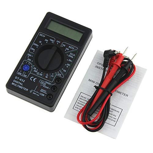 Ballylelly DT-832 Pocket Digital Multimeter 1999 Zählt AC/DC Volt Ampere Ohm Diode hFE Durchgangstester Amperemeter Voltmeter Ohmmeter