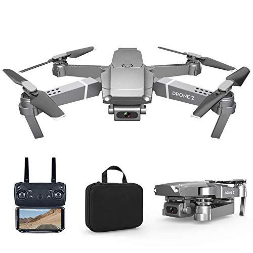 DASLING E88 UAV aéreo de Altura Fija 4K Mini Quadcopter Plegable Avión de Control Remoto de Larga duración-720P Plata