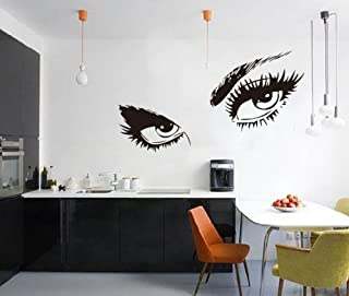 Amaonm Large Audrey Hepburn's Eyes Removable Vinyl Quotes Wall Decals DIY Wall Stickers & Murals for Kids Room Living Room Bedroom Decoration (19.7