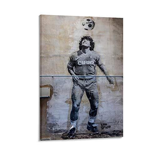 GDFG Diego Armando Maradona Franco Street Art Maradona Napoli Poster decorativo su tela da parete per soggiorno, camera da letto, 30 x 45 cm