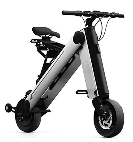 AHELT-J Bicicleta Eléctrico con Asiento Desmontable, Potencia Máxima de 350W, Batería Intercambiable, Autonomía Ilimitada hasta 45km, Ruedas de 13