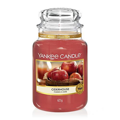 Yankee Candle große Duftkerze im Glas, Ciderhouse, Brenndauer bis zu 150 Stunden