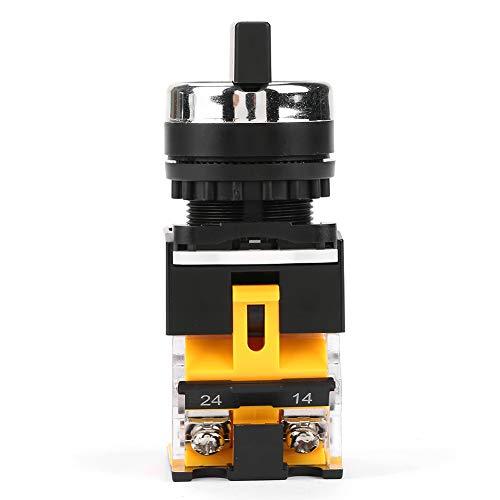 Interruptor giratorio selector momentáneo estable de 22 mm Interruptor de reinicio automático de 3 posiciones 1 NC 2 NO Aislamiento duradero de 22 mm con largo para circuitos eléctricos