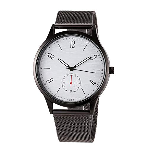 UINGKID Collection Unisex-Armbanduhr Modegeschäft unauffällig einfache Mesh Gürtelschnalle braune Quarz Armbanduhr