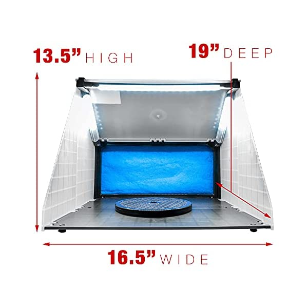 Master-Airbrush-Brand-Lighted-Portable-Hobby-Airbrush-Spray-Booth-with-LED-Lighting-for-Painting-All-Art-Cake-Craft-Hobby-Nails-T-Shirts-More-Includes-6-Foot-Exhaust-Extension-Hose