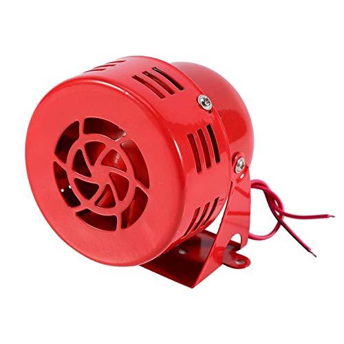 Allarme motore Trombe auto 12 V forte 110 dB Allarme antincendio Sirena elettrica Corno Compatto Rosso Trombe auto Sistema di sicurezza elettronica allarme per Auto Camion SUV Motociclo
