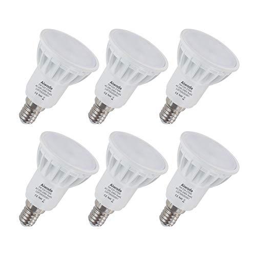 Aiwode 5W E14 LED Lampe,Warmweiß 2700K,Ersetz 50W Halogen-Glühlampe Nicht Dimmbar 500LM RA85,120°Abstrahlwinke,6er Pack.