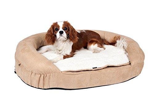 Karlie K Ortho Bed, Oval Cama Perro, Beige 72X50X20Cm, tamaño