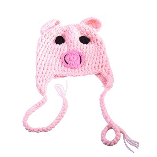 PIXNOR Bébé chapeaux bébé tricot crochet bonnet en tricot