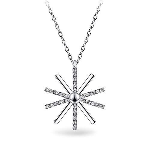 Collana Pendente Diamond Sun Collana Collana Pendente discendente da Donna Collana Gioielli Clavicola Regali di Festa di Compleanno di Natale