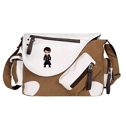 Harry Potter Children's Fashion Shoulder Bag Multifunctional Book Bag Large Capacity Messenger Bag Medium Brown