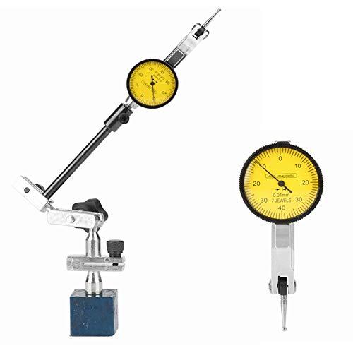Magneetvoet, 0-0,8 mm, magnetische meetklok voet staander, aluminiumlegering, instelbare kleine meetklok standaard voor meetklok en vergelijkaar
