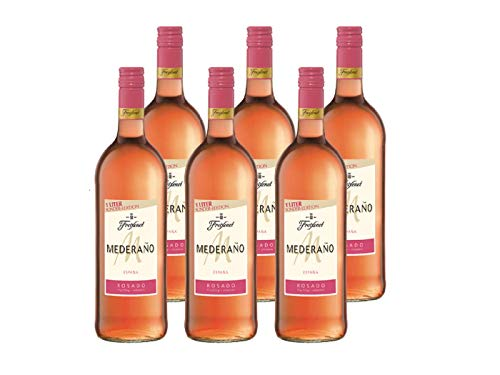 Mederaño Rosado Wein (6 x 1l) l Cuvée l halbtrocken l fruchtig leicht l für gemütliche Abende mit Freunden