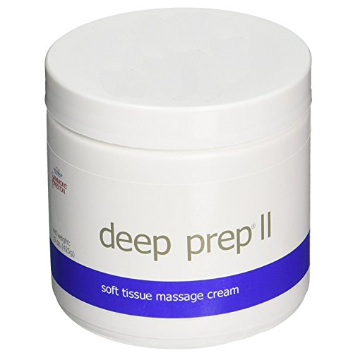 Rolyan - 53882 Deep Prep II Cream, Professional Massage Cream with Coconut Oil, Beeswax-Free, Long Lasting Creme with Waxy Feel for Relaxing Full Body Massage and Pain Relief, 15 Ounce Jar