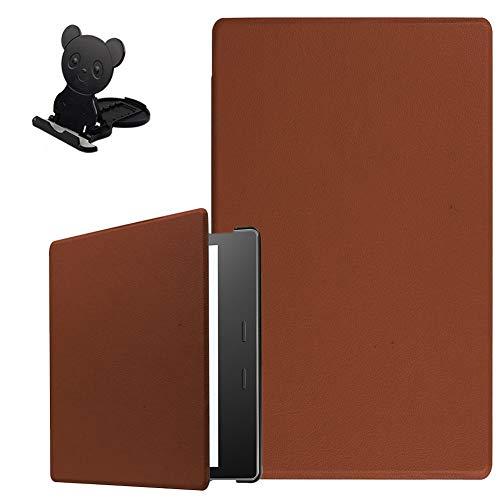 Ostop Kompatibel mit Amazon Kindle Oasis 7 Zoll 2019 Hülle Slim PU Leder Schutzhülle mit Auto Schlaf/Wachen und Handy/Tablet Ständer,Leicht Magnetisch Flip Tasche für Kindle Oasis 2017,Braun