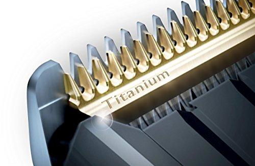 Philips HC9450/15 Serie 9000 Regolacapelli con Pettini Motorizzati, Lame in Titanio, 400 Impostazioni di Lunghezza, Precisione 0.1 mm, Tempo Funzionamento 120 min, batteria, Nero/Argento