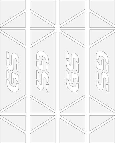 Pegatinas Laterales Reflectantes Laterales Alta CALIAD para Maletas BMW Kit 4 Unidades 5 Colores Disponibles (Blanco)