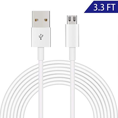 Dericam Micro-USB-Kabel für Überwachungskameras und Android-Handys/Tablets, 5V 2A, 1 Meter/3.3 Fuß, High-Speed-USB 2.0-Datenübertragung und schnelles Laden, UAC1MW, Weiß