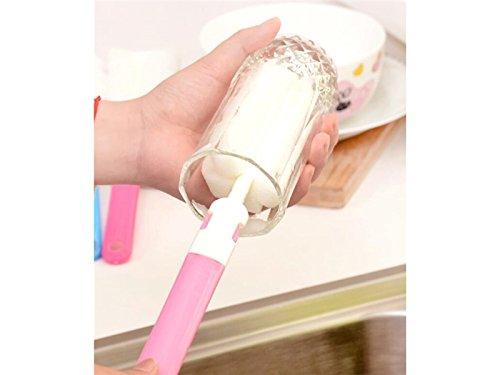 Douche Nettoyage de cuisine manche longue brosse éponge_pink pour salle de bain