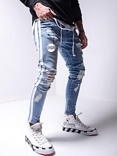 Jeans Vaqueros Pantalon Pantalones Vaqueros De Estilo Camuflaje Para Hombre, Pantalones De Chándal,...