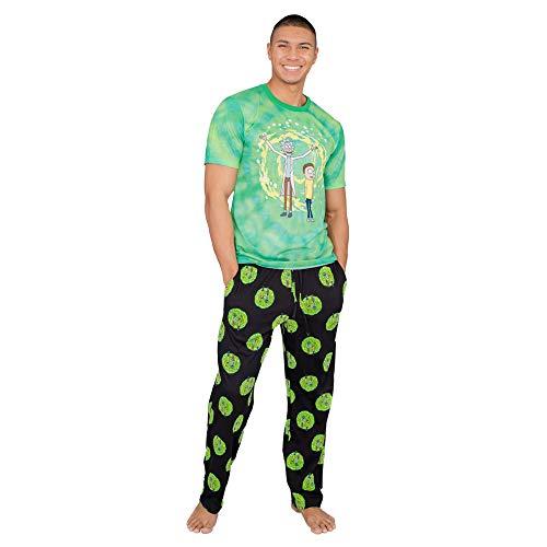 Rick and Morty Adult Dimension Portal T-Shirt and Lounge Pants Pajama Set