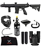 Maddog Tippmann Stormer Elite Dual Fed Private HPA Paintball Gun Marker Starter Package - Black
