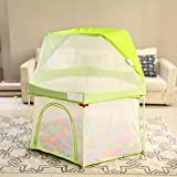 22 sq ft Green Fence Care with Breathable Mesh,6 Panel Play Pens Indoors for Babies Toddler Newborn Infant...