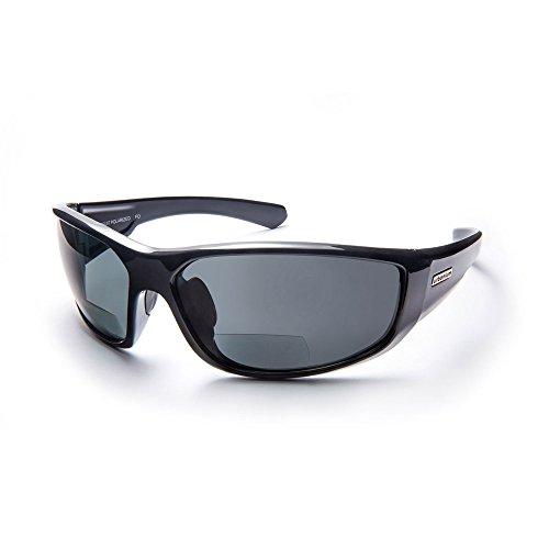 Urbanium Eyewear Rio Sonnenbrille mit Sehstärke Modell Rio im sportlichen Look mit polarisierten Gläsern in schwarz mit Addition +1.50
