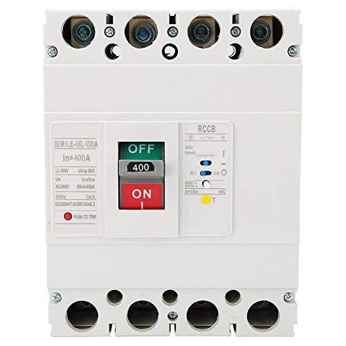 BEVANNJJ ZYY Circuit Breaker Interruptor de protección diferencial 400A 3P + N en Caja Moldeada de Corriente Residual