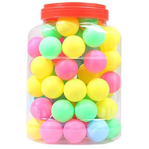 Ogquaton Feine Qualität Ping-Pong-Bälle Sortierte wortlose Tischtennis-Plastikball-Masse Bunte Nahtlose Ping-Pong-Plastikball-Qualität