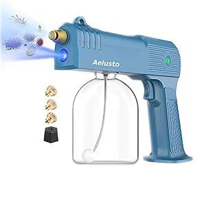 Aelusto Handheld Electric ULV Sprayer,Nano Atomizer ULV Spray Gun Fogger,Portable Mini Sprayer Disinfection Machine with Blue Light for Home, Office, School or Garden (Blue) from YW