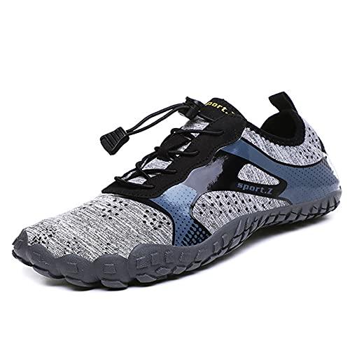 Elitte Zapatos de agua para mujer y hombre, antideslizantes, ultra portátiles, zapatos de natación descalzos para playa, calcetines de yoga para piscina, viajes, kayak, río