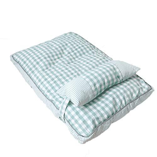 GDSSX Colchón de Mascotas de Cama de Perro Rectangular con Cubierta de colchón de Mascotas Lavable Dormir Descansar (Size : Medium)