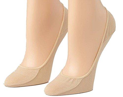RJM Accessories Damen 4 Paar Nude Invisible Socks Schuhzwischenlagen 37-40