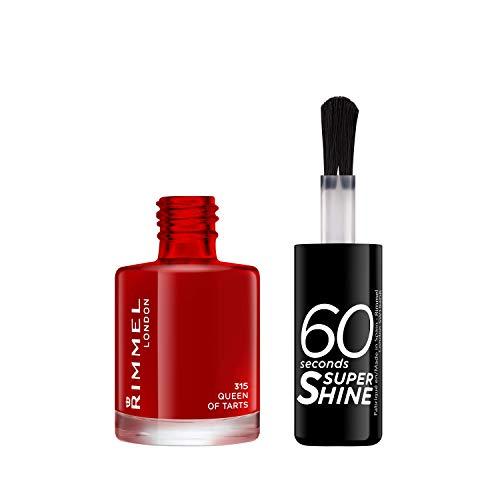 Rimmel London 60Sekunden Super Shine Nagellack, Rot, 8ml