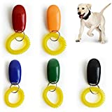 IWILCS Dog Clicker, 5 PCS Dog Training Clickers, Pet Training Clickers, 2 in
